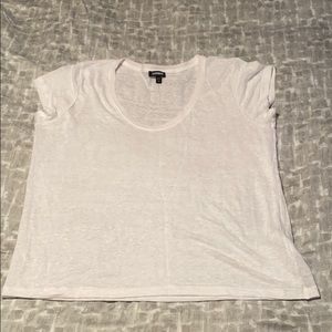 Express linen Scoop neck shirt